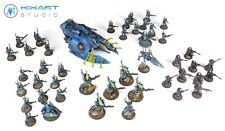 Warhammer 40,000 40k Craftworld Eldars Army - Kixart Studio - Pro painted