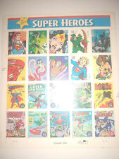 DC COMICS SUPER HEROES STAMPS - 20x 39 Cent Stamps - 2005 USPS - FREE PRIORITY