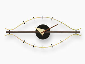 George Nelson Design Solid analog eye wall clock time