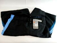New Mens Nike Swim Black Blue Mesh Lined Swim Trunks Shorts Size Large Quick Dry