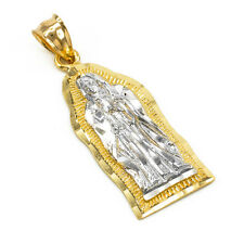 Two-tone Gold Virgin Mary Virgen Maria De Guadalupe Small Religious Pendant