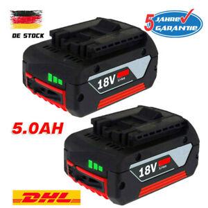 2X Für Bosch Akku Ersatzakku GBA 18V 5,0 Ah GSR GSB 18 Volt BAT618 BAT609 BAT620