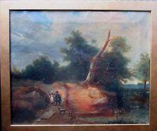 FERDINAND OLIVIER zugeschr.Ölbild >Landschaft mit Paar< SIGNIERT 1831 + Rahmen,