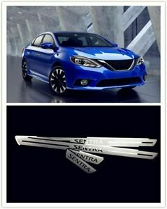 Car Beauty For Nissan Sentra Door Sill Cover Guard Scuff Plate 2012-2018 4PCS