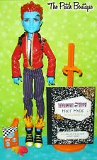 MONSTER HIGH 1ST ORIGINAL HOLT HYDE BOY DOLL W/ OUTFIT PET CROSSFADE DIARY STAND