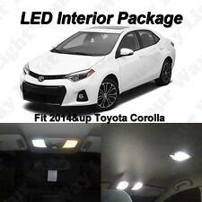 6 x Xenon White SMD LED Interior Lights Bulbs For 2015 2016 2017 Toyota Corolla
