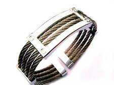 14mm Stainless Steel Silver High Polish ID Frame Cable Loop Cuff Bracelet B4