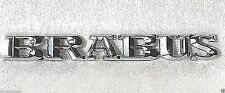 Emblem silver chrome metal BRABUS Decal Sticker badge (fits: Mercedes )