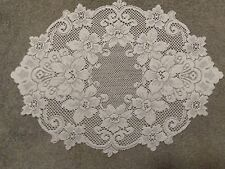 """New Ivory lace Cleremont design table Doily 19"""" x 14"""""""