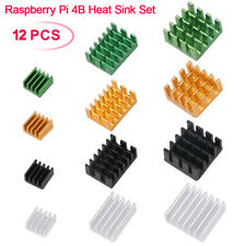 12pcs Raspberry Pi 4B Heat Sink Set, Raspberry Pi 4B Aluminum Radiator Cooling
