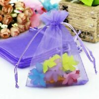 50x Organza Gift Candy Bags Pouches Jewelry Packing Mesh Wedding Xmas Party