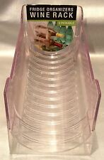 Fridge Organizers Stackable Wine Rack - Clear Plastic Saves Room In Fridge- NEW