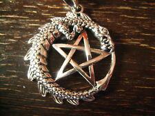 prächtiges Amulett Anhänger Drache Drachen Pentagramm 925er Silber neu et Nox