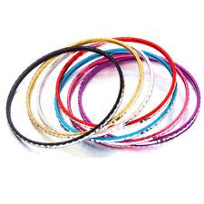 35pcs Women Ladies Assorted Colorful Round Circle Aluminum Bracelets Bangle J