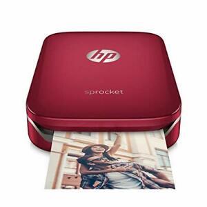 HP Sprocket Imprimante Photo portable (Bluetooth, sans Encre 5 x 7,6 cm) Rouge