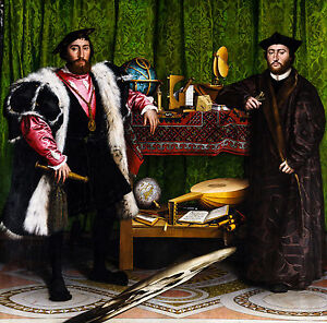 Hans Holbein the Younger - The Ambassadors, Museum Art Poster, Canvas Print