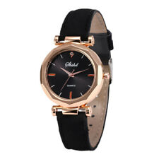 Women Ladies Korean Rhinestone Rose Gold Quartz Watch Female Belt Watch ST