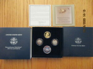 2005 US Mint Westward Journey Nickel Series Coin and Medal Set with box and COA