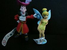Disney figures Hook + Tinkerbell from peter pan cake topper BIRTHDAY bullyland