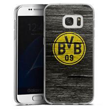 Samsung Galaxy S7 Silikon Hülle Case - BVB Holzoptik