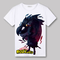 White Unisex Anime My Hero Academia Casual Short Sleeve T-Shirt Tee Tops #UN30