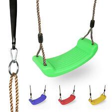Kinder Kunststoff Garten Swing Sitz mit Verstellbarem Seile Draußen Familie Toy