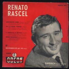 VINILE 45 giri - RENATO RASCEL - Arrivederci Roma e altre