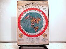 Cartel De Tierra Plana-gleasons nuevo estándar mapa del mundo Talla 1892 (350gsm) A3
