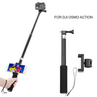 """Sports Camera 35.63"""" Extend Selfie Stick w/ Phone Clip Clamp for DJI OSMO Action"""