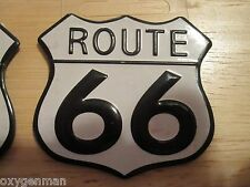 "(1) ROUTE 66 Highway Gas Station Garage Metal 2 1/4"" Toolbox Mancave Magnet"