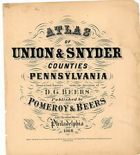 Atlas Union-Snyder Counties (PA,Pennsylvania,Genealogy):1868 (Digital files)