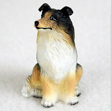 COLLIE (TRI-COLOR) TINY ONES DOG Figurine Statue Pet Gift Resin