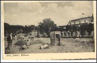 Möltenort Schleswig-Holstein Postkarte 1938 gelaufen Strandpartie Hotel Seeblick