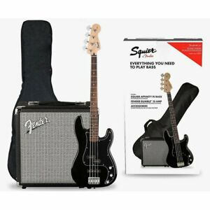 Fender Squier Affinity Series Precision PJ Bass PACK, Black