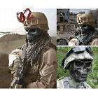 Skull Skeleton Black Full Face Mask Tactical Paintball Airsoft Protect Safety CS