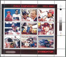 Kalmykia (Russia Local) 2001 Racing Cars NASCAR D. Earnhardt Sheet MNH** Privat