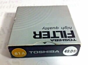 49mm 81A 81-A Glass Lens Filter Warm Warming 49 mm Japan OEM Soft Focus Toshiba