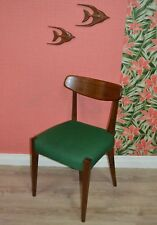Vintage 60er Chaise de salle à manger DANISH DESIGN STYLE HOUSSE TISSU VERT