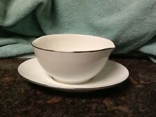 Noritake Fremont Gravy Boat with Attached Underplate