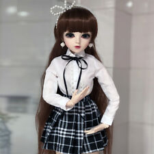"24"" Ball Jointed Girl 1/3 BJD Doll Eyes Face Make up Cloth Wig Birthday Gift Toy"