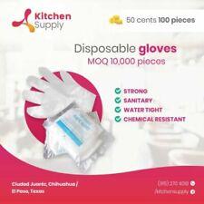 200pcs Plastic Disposable Gloves Restaurant Home Service Catering Hygiene