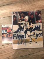 Don Sweeney GM 8x10 Auto; Boston Bruins; Stanley Cup; Harvard; JSA Autograph
