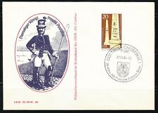 Germany DDR 1984 cover Briefmarken Ausstellung Cottbus.Prussia's Postman
