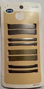 """8 Vintage GOODY Hairhints stay tight barrettes NEW NOS NIB 2006 2.25"""" inches"""