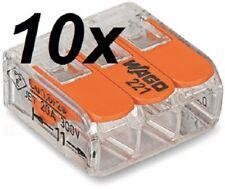 Wago Universalklemme mit Hebel, Orange, 3 x 0,5-4 mm² (10 Stück) Wagoklemme