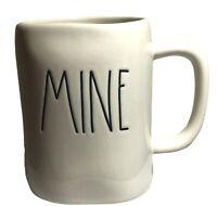 Rae Dunn By Magenta 202 MINE Coffee Mug Cup Ivory Black Script
