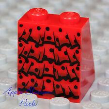 NEW Lego Female Girl RED SKIRT w/Black Ruffles Princess/Queen Dress Bottom Slope