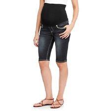 Denim Diva Maternity  Denim Bermuda Shorts Womans Size-Medium