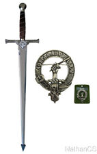 Scottish Clan Gunn Crest Claymore Sword