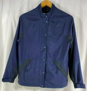 Dryjoy By FootJoy Women's Blue Full Zip Lined Golf Jacket Windbreaker XS